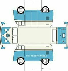 Sarah Pinyan posted paper toy VW to her -Papercraft- postboard via the Juxtapost bookmarklet. Paper Car, Paper Toys, Diy Paper, Free Paper, 3d Templates, Rainy Day Fun, Rainy Days, Paper Models, Vw Bus