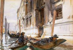 John Singer Sargent , La siesta de los gondoleros, 1904. Acuarela sobre papel, 50.8 x 35.6 cm, Colección particular