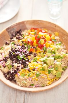 Recipe: Tex-Mex Quinoa Salad | This do-it-all salad  gets its bulk from protein-rich pantry staples like quinoa and beans, and picks up freshness, crunch, and color from a medley of veggies before it's tied together with a zippy chile-lime dressing. You can count on it to hold its own as the main course or a side that pairs with all your summer favorites.