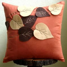 Spring Leaves  Throw Pillow Covers  16x16 Inches by TheHomeCentric