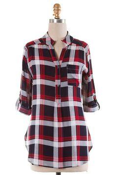 Must have this season!  Flannel Flirter Red – TayaBella