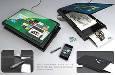 The AC Portable Office Functions as Both a Tablet and Printer #mostamazinggadgets #techgadgets trendhunter.com