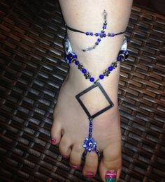 SOLD! I may be able to make something similar just ask! Barefoot Sandals by YumaDesertFairy on Etsy, $20.00