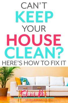 Feel like you can't keep your house clean? It's probably because you're holding your house, kids, and life to someone else's standard of being clean and organized. Learn to set your own standards and get tips to finally keep your house clean!