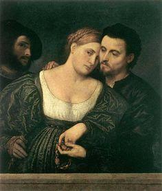 Paris Bordone, 1520s: Venetian Lovers    Milan, Pinacoteca di Brera