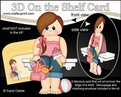 3D On the Shelf Card Kit - Little Teen Martie is spending the Day on the Beach - CUP725740_359 | Craftsuprint