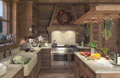 Chalet in the Red Bor on Behance