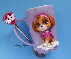 Easy Polymer Clay, Polymer Clay Dolls, Clay Mugs, Paw Patrol, Biscuit, Toys, Tableware, Creative, Instagram Posts