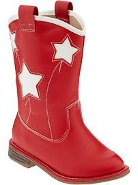 Old Navy - Toddler Star Cowboy boots -- Madie just got these. :)