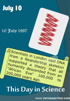 July 10 - This Day in Science | Mr. Researcher