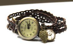"""Uhrenarmbänder - Wickelarmbanduhr """"Sommerbrise"""" - ein Designerstück von dasjulchens bei DaWanda"""