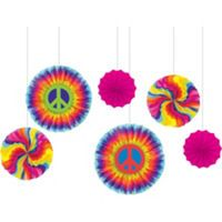 Feelin Groovy Party Supplies - 60s Theme Party - Party City_Hanging Fans