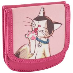 Featured on Fab.com | Recycled Leather Cats Pink made by Taxi Wallets