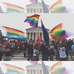 This is an absolutely AMAZING and historic day for America. I have never been so proud to be apart of this country. God bless the Supreme Court and everyone that supports marriage equality! ❤️ #loveislove #all50 #lgbtq #lovewins #pride2015