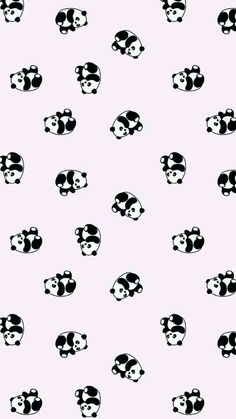 Made with Patternator App uploaded by ᴾᵁᴺᴺᴵᴱᴾᵁᴺ ♡ Panda Wallpaper Iphone, Cute Panda Wallpaper, Cute Pastel Wallpaper, Panda Wallpapers, Soft Wallpaper, Cute Wallpaper For Phone, Bear Wallpaper, Cute Patterns Wallpaper, Emoji Wallpaper