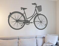 SPRING SALE Road Bike Or Beach Cruiser Bicycle Decal By Danadecals - Custom vinyl decals bicycle