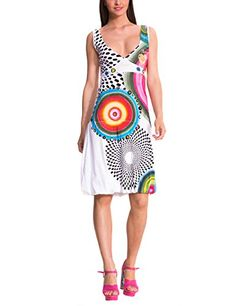 Desigual Love Knitted Dress in White - http://www.womansindex.com/desigual-love-knitted-dress-in-white/