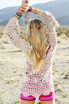 Breathable jacket. Hippy chic