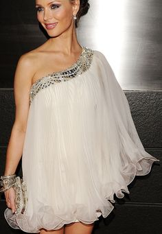 Georgina Chapman in her own design for Marchesa