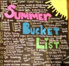 Summer Bucket List #bucket list #summer #summer activities