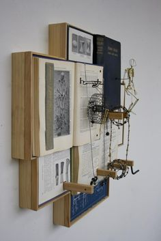 Altered book art by Casey Curran.