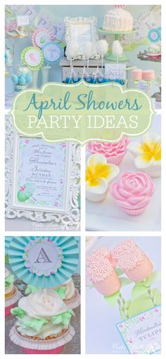 Lovely pastel April Shower party with tons of gorgeous details!  See more party ideas at CatchMyParty.com!