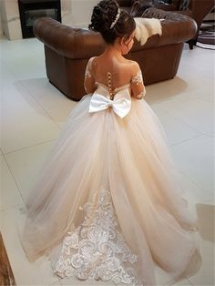 Cute Flower Girl Dresses, Tulle Flower Girl, Tulle Flowers, Girls Dresses, Tulle Lace, Dresses Dresses, Baby Flower, Lace Chiffon, Wedding Flowers