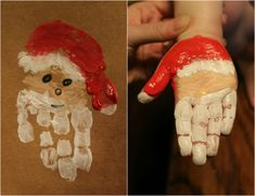 kleinkinder farbe bild weihnachtsmann handprint toddlers color image Santa Claus Get more photo about subject related with by looking at p. Santa Crafts, Holiday Crafts For Kids, Preschool Christmas, Toddler Christmas, Christmas Activities, Xmas Crafts, Christmas Projects, Kids Christmas, Daycare Crafts
