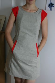 """Chloe by Victory Patterns (the pink n white one with two lines of decorative buttons): on a 5'10"""" woman! smunch: chloe"""