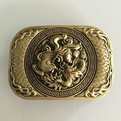 New High Quality 3D Phoenix Dragon Solid Brass Belt Buckle