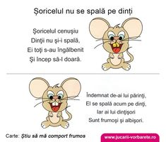 Soricelul nu se spala pe dinti - Consiliere educationala in imagini Kindergarten Activities, Toddler Activities, Preschool, Student Information, Kids Poems, Teacher Supplies, Kids Reading, Baby Play, Raising Kids