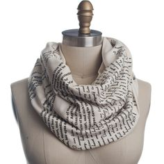 Wrap up with a good Book Scarf! Let everyone know about your great taste in books by wrapping a page from Persuasion around your neck! This infinity scarf will keep you looking & feeling both warm & i