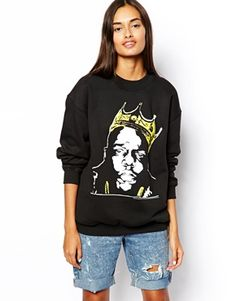 #ASOS Sweatshirt with Notorious BIG  @asos @keatonrow  #STYLIST4HIRE