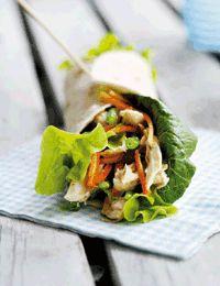 Wraps med thai-kylling i kokoscreme
