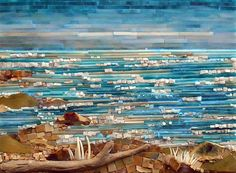 Frothy. Mosaic waterscape...beautiful!!