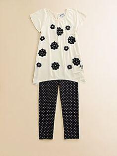 DKNY - Toddler's & Little Girl's Tunic and Leggings Set