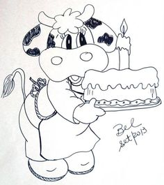 Riscos para pintar,PAPS de pintura,desenhos Embroidery Patterns, Hand Embroidery, Coloring Books, Coloring Pages, Cow Pictures, Chicken Art, Cartoon Girl Drawing, Cow Art, Girls Quilts