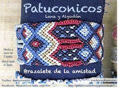 Brazalete de la amistad doble Patuconicos. solo hay dos iguales de cada modelo  https://www.facebook.com/pages/Patuconicos-lana-y-algodón/133197553517428?ref=hl http://patuconicos.blogspot.com.es https://twitter.com/patuconicos/media