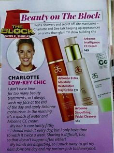 "[In the News] Women's Day ""Beauty on The Block"", April 2015 - Arbonne RE9 skin care & Cc Cream"