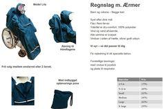 Lila regnslag til kørestol med nakkestøtte - tøj til handicap