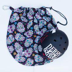 Sugar skull helmet bag Roller Derby