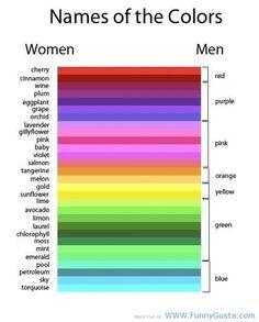 Men Vs. Women: Colors funny pictures