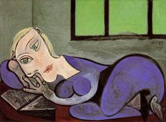 Reclining Woman Reading, Pablo Picasso (1960)