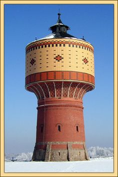 Germany, water tower in Mittweida in Saxony