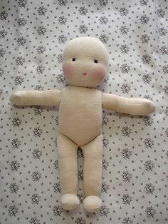 Doll tutorial come fare una pigotta from my diy word – ArtofitPattern and DIY to make a rag doll - Free patterns - Top Diy ProjectsFinally, bend up the foot and stitch across the top to the leg. Stab stitch the joint at the hips, and your doll body Sock Dolls, Felt Dolls, Doll Toys, Baby Dolls, Girl Dolls, Doll Crafts, Diy Doll, Homemade Dolls, Sewing Dolls