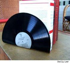 Sujeta libros de disco de vinilo