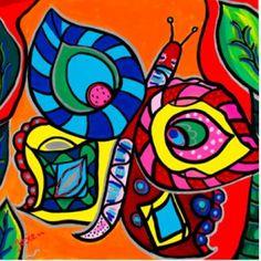 Butterfly, Celine en de Pauw van Josien Broeren door Josien Broeren #Kunstzinnig
