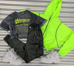 Conjunto de ropa, para aquellas que les gusta llamar la atención con simpleza Neon Outfits, Tumblr Outfits, Teen Fashion Outfits, Swag Outfits, Cute Casual Outfits, Mode Outfits, Dance Outfits, Outfits For Teens, Stylish Outfits