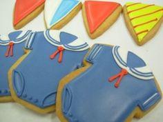 Sailor onesie cookies