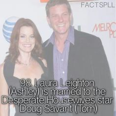 It's funny that she's married to someone named Tom considering she divorced a Tom in the show.